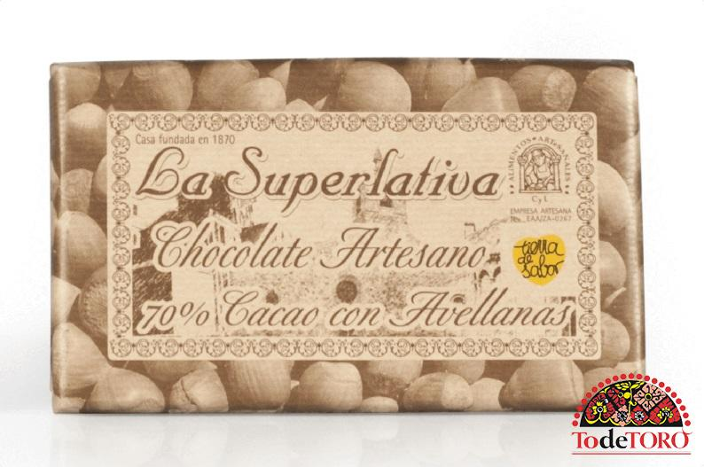 Chocolate 70% Cacao con Avellanas 200gr.